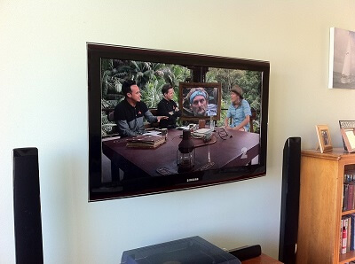 another of our hidden cabling tv bracket installation job in Auckland