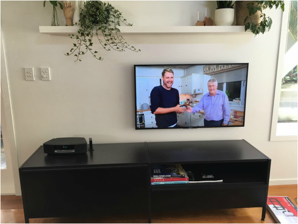 this one is an internal cabled tv wall installation in westmere